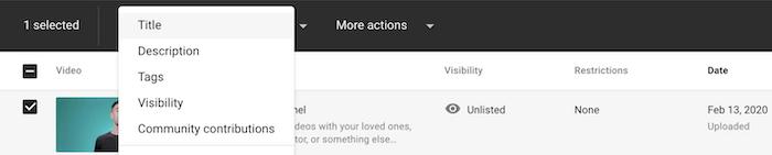 YouTube Audit and Metadata
