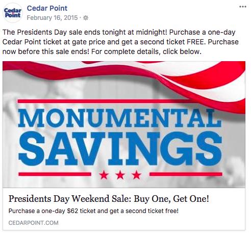 february marketing ideas presidents day sale