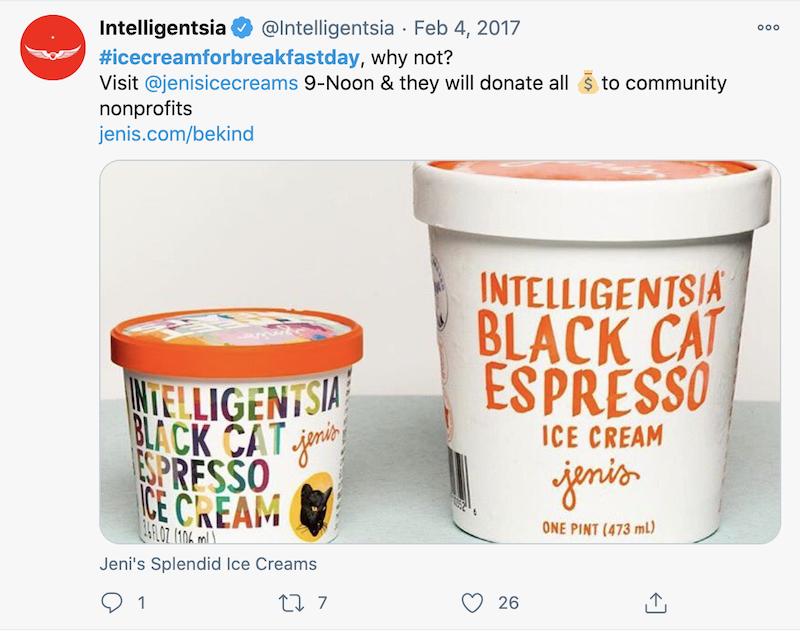 february marketing ideas ice cream for breakfast day