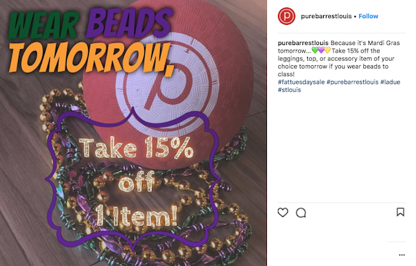 february marketing ideas mardi gras bead discount