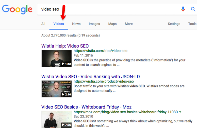 seo trends for 2021 video marketing