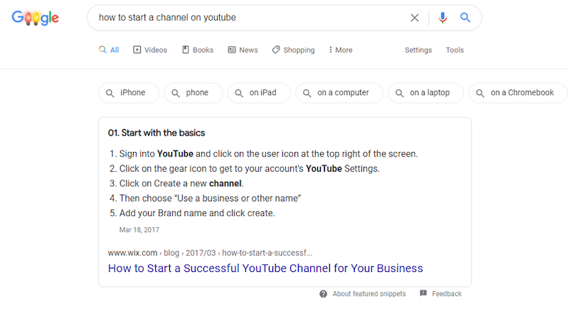 seo trends for 2021 featured snippets