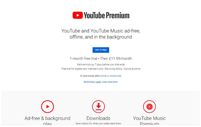 how to monetize youtube videos - YouTube Premium
