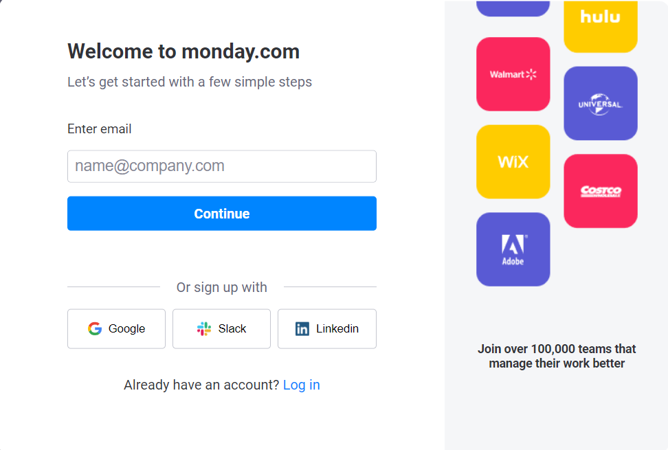 email signup form includes social proof