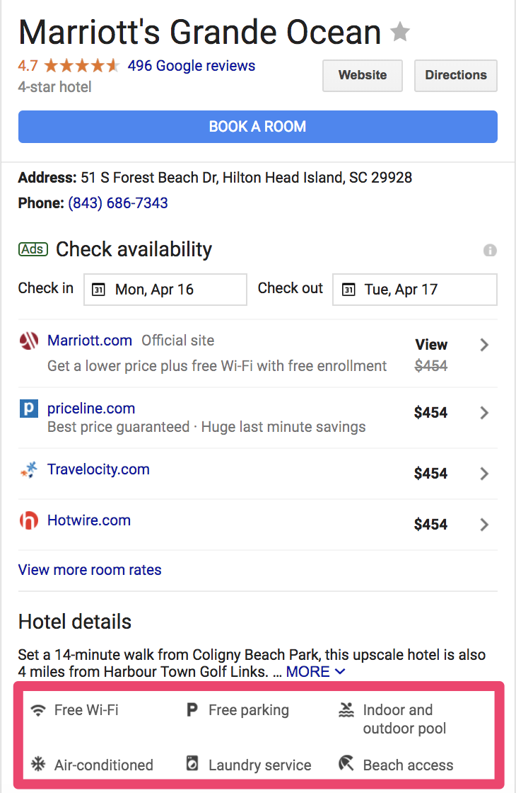 example attributes for your google my business account