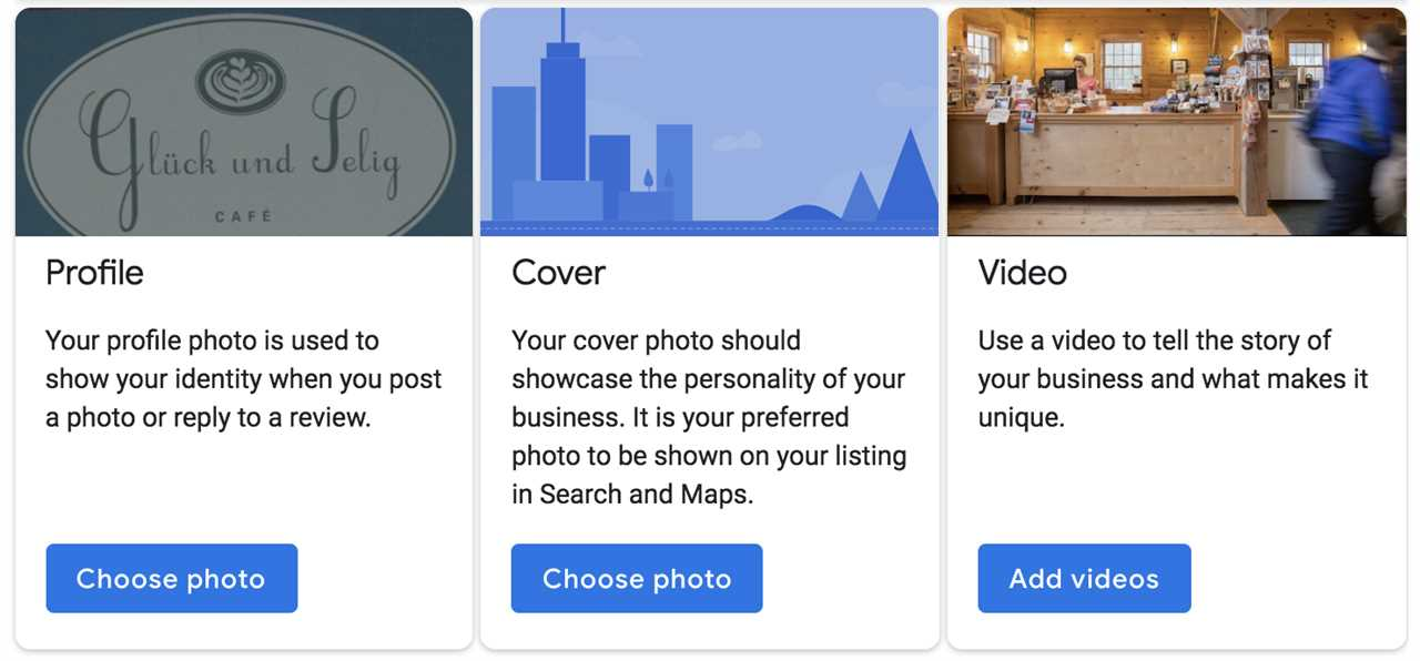 Example profile photos for your google my business account