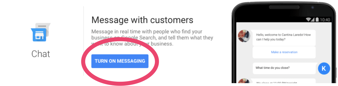 how to claim a business on google and use the messaging feature