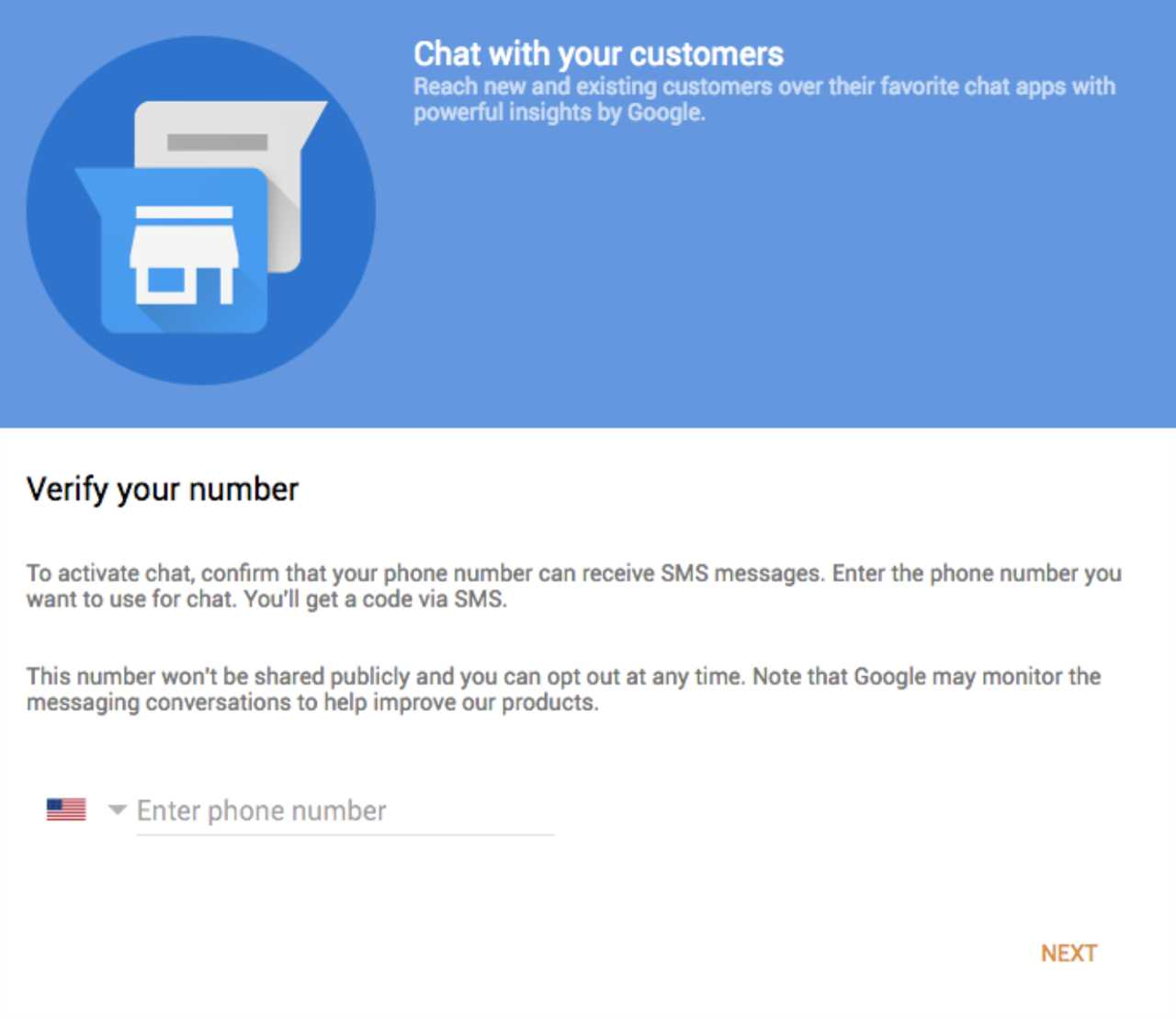 Chat with your customers via your Google My Business page