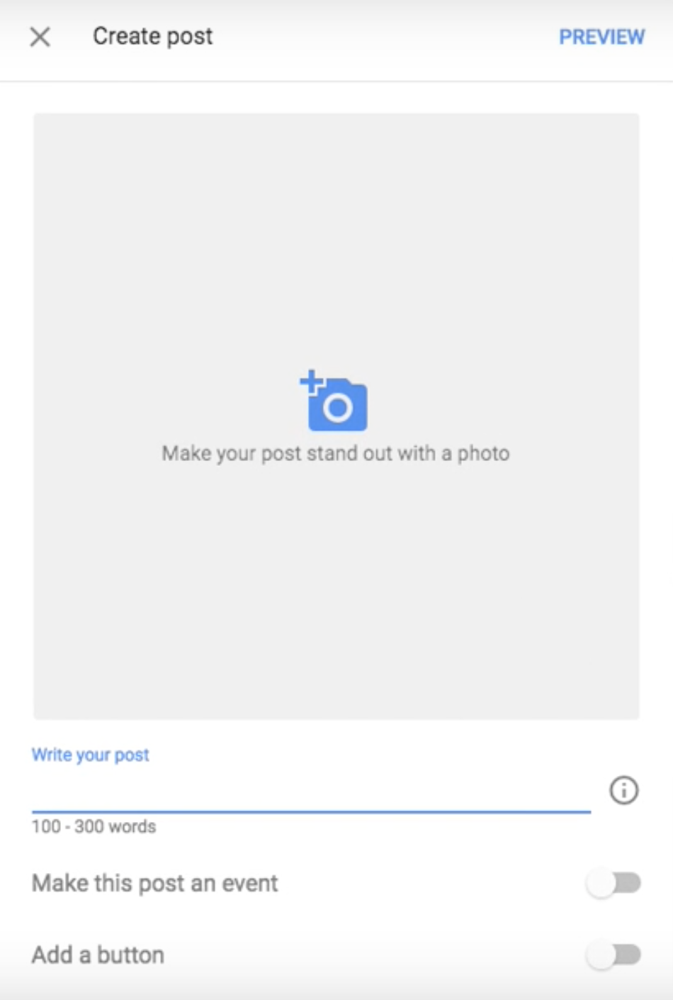 create posts for your Google My Business account