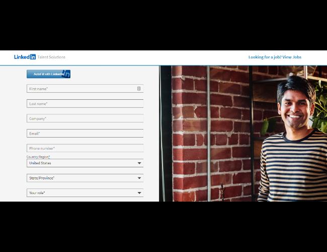 LinkedIn Insights sign-up form
