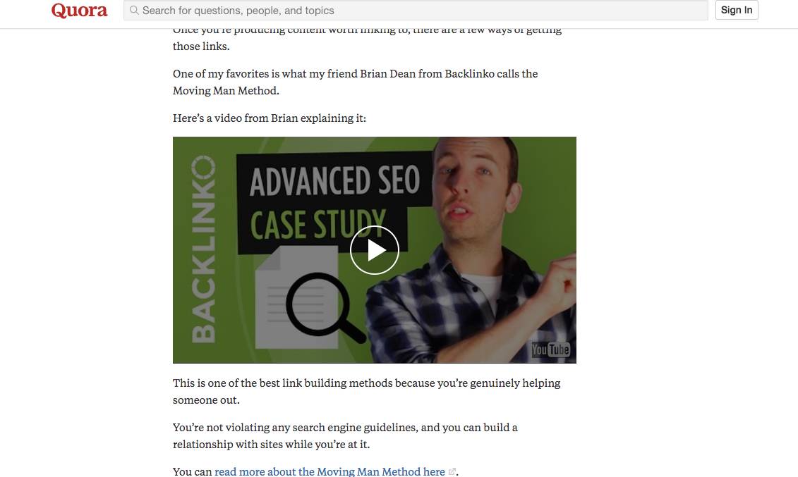 youtube seo tips share on quora example